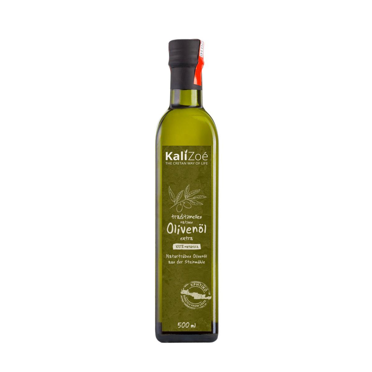 500ml – ungefiltertes, naturtrübes Olivenöl extra nativ