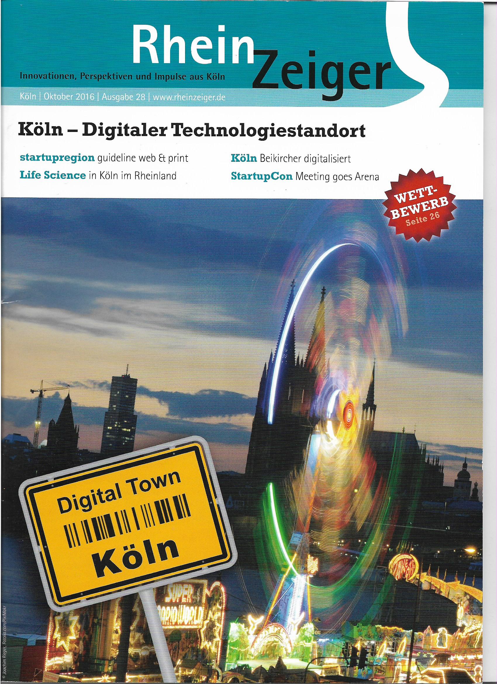 Rheinzeiger Titelblatt